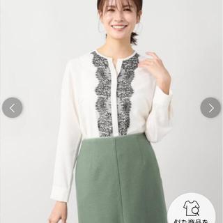 ラトータリテ(La TOTALITE)の美品フロントレースシャツ(シャツ/ブラウス(長袖/七分))