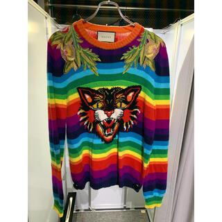 Gucci - グッチ アングリーキャットニットセーター