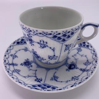 ロイヤルコペンハーゲン(ROYAL COPENHAGEN)のロイヤルコペンハーゲン ブルーフルーテッド ハーフレース コーヒーカップ(食器)