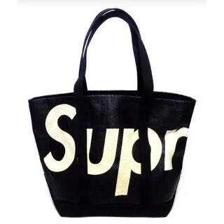 Supreme - 【新作】 シュプリーム ラフィア トート バッグ  ブラック