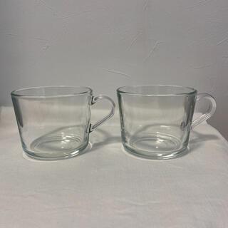 イケア(IKEA)のIKEA  クリアガラス 2個(グラス/カップ)