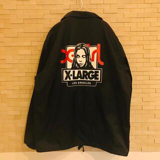 美品 x-large x-girl  コーチジャケット  ブラック Mサイズ