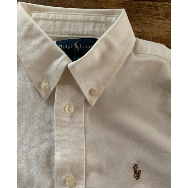 Ralph Lauren(ラルフローレン)のrk様専用ページです。ラルフローレン 110cm 白 ダンガリーシャツ キッズ/ベビー/マタニティのキッズ服男の子用(90cm~)(Tシャツ/カットソー)の商品写真