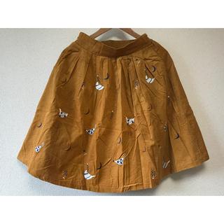 グラニフ(Graniph)のgranipf 鳥の刺繍のスカート(ひざ丈スカート)