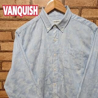 ヴァンキッシュ(VANQUISH)のVANQUISH ヴァンキッシュ  ストライプ  迷彩柄  長袖 シャツ(シャツ)