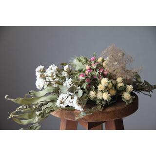 ホワイト系花材セットA ハーブ.ユーカリ.千日紅など(ドライフラワー)