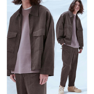 HARE - RAYON 11W CORDUROY ZIP OUTER SET-UP