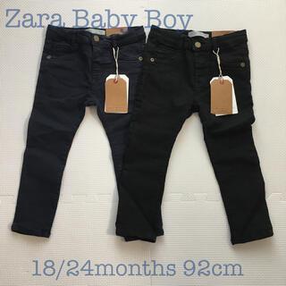 ZARA KIDS - 【タグ付き新品】zara baby boy スキニーパンツ 92cm 2枚セット