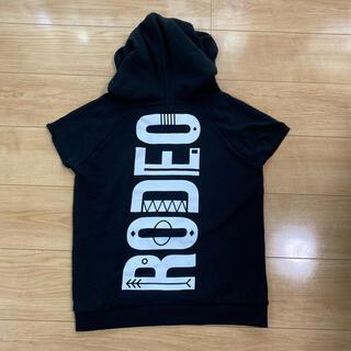 ロデオクラウンズ(RODEO CROWNS)のロデオクラウンズ 半袖パーカー Sサイズ(パーカー)