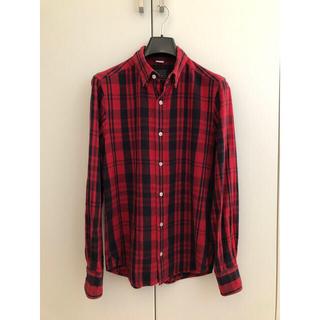 トゥモローランド(TOMORROWLAND)のBLUE WORK ネルシャツ チェックシャツ サイズS 隠しボタンダウン(シャツ)