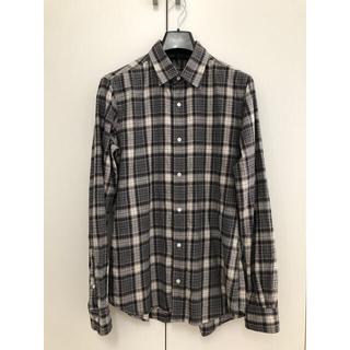 トゥモローランド(TOMORROWLAND)のEditionエディション グレーチェックシャツ サイズ48 薄手ネルシャツ(シャツ)
