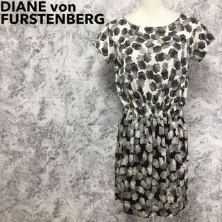 ダイアンフォンファステンバーグ(DIANE von FURSTENBERG)のシルク100% ダイアン フォン ファステンバーグ 総柄 花柄 ワンピース(ひざ丈ワンピース)