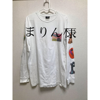 ステューシー(STUSSY)のstussy KEN PRICE ロンT ホワイト(Tシャツ(長袖/七分))