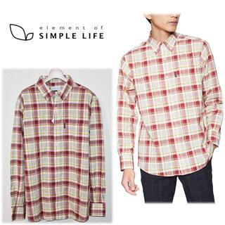 シンプルライフ(SIMPLE LIFE)の 《シンプルライフ》新品 ボタンダウン 長袖 カジュアルチェックシャツ LL(シャツ)