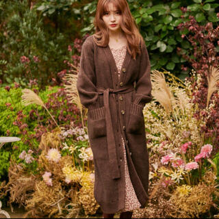 snidel - her lip to Belted Wool Long Cardigan