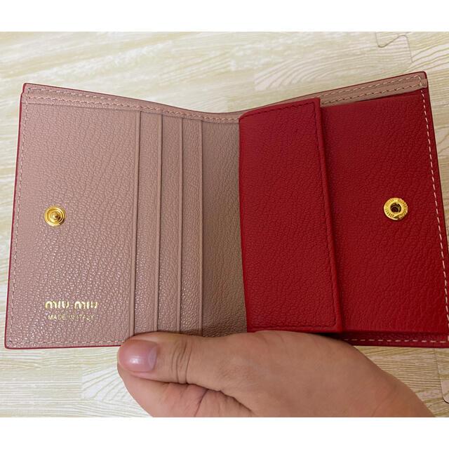 miumiu(ミュウミュウ)のミュウミュウ miu miu 三つ折り財布 ピンク 5MV204 レディースのファッション小物(財布)の商品写真