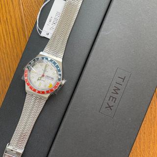 タイメックス(TIMEX)の【未使用】Q Timex Reissue 38mm 赤青ベゼル & 白ダイヤル(腕時計(アナログ))