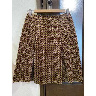 ミッシェルクラン(MICHEL KLEIN)のミッシェルクランボックスプリーツひざ丈スカート(ひざ丈スカート)