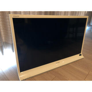 アクオス(AQUOS)の【ゆず様】SHARP AQUOS テレビ LC-32J9 ホワイト 32インチ(テレビ)