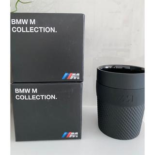 ビーエムダブリュー(BMW)の専用BMW Mコップとタオル カーボン調 黒/ブラック 2個セット(タンブラー)