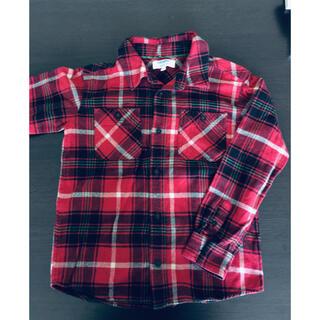 ネルシャツ 赤チェック 140センチ(ブラウス)
