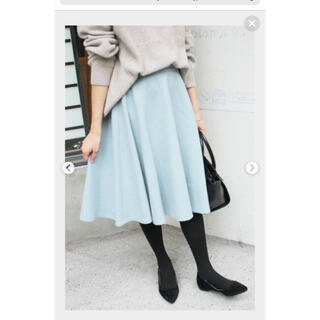 IENA SLOBE - SLOBE IENA ペールブルー ウールスカート
