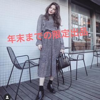 ザラ(ZARA)のamel フリルデザインレオパードワンピース(ひざ丈ワンピース)