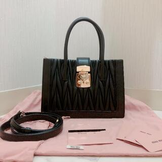miumiu - miumiu♡コンフィデンシャル マトラッセ ハンドバッグ