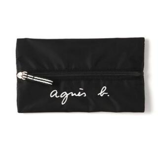 アニエスベー(agnes b.)の新品 agnes b.ロゴ刺繍ペンケース 黒(ペンケース/筆箱)