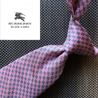 BURBERRY BLACK LABEL - 【訳あり未使用】バーバリー ブラックレーベル シルク100%ネクタイ ピンク