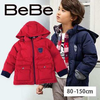 ベベ(BeBe)の新品未使用 BeBe/タフタリバーシブル雪柄プリントコート(ジャケット/上着)