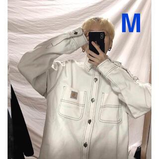 カーハート(carhartt)の新品 カーハートWIP ジャケット デニムジャケット白 ホワイトM(Gジャン/デニムジャケット)