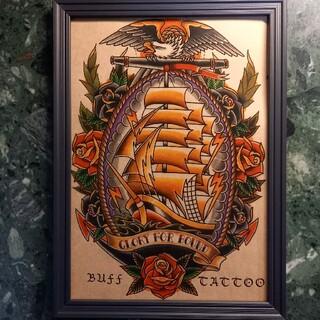 ネイバーフッド(NEIGHBORHOOD)の「GLORY FOR BOUND」A4サイズ 刺青 タトゥーフラッシュ(ミラー)