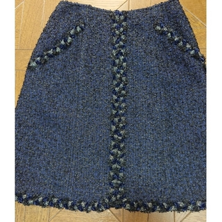 ルネ(René)の美品 ルネ ツイードスカート 36(ひざ丈スカート)
