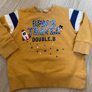 ダブルビー(DOUBLE.B)のダブルB 宇宙柄トレーナー 100(Tシャツ/カットソー)