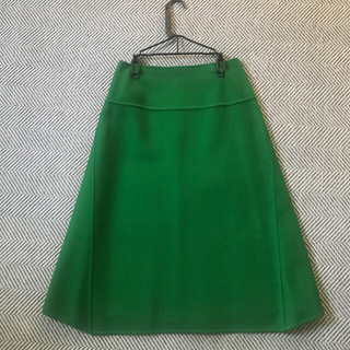 Drawer - Drawer  ウールバックジップスカート       ドゥロワー