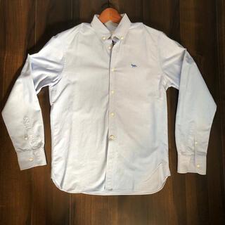 メゾンキツネ(MAISON KITSUNE')のメゾン キツネ ボタンダウンシャツ 水色(シャツ)