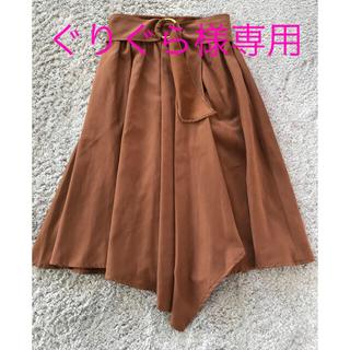 ヴィス(ViS)のビス  ひざ丈スカート キャメル色 Sサイズ(ひざ丈スカート)
