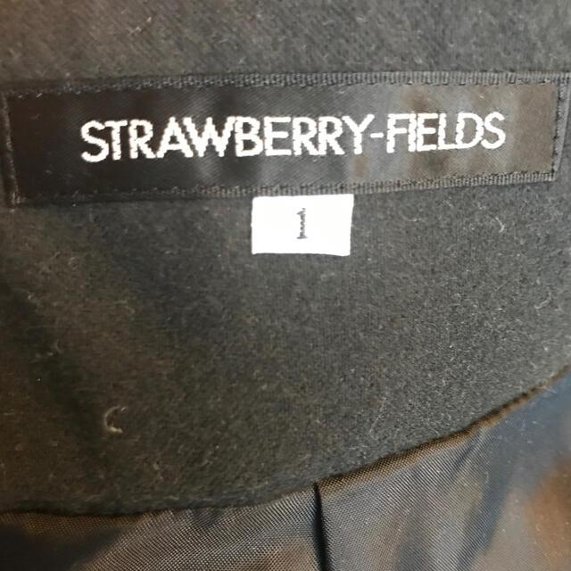 STRAWBERRY-FIELDS(ストロベリーフィールズ)のストロベリーフィールズ 黒フェルトスカート レディースのスカート(ひざ丈スカート)の商品写真