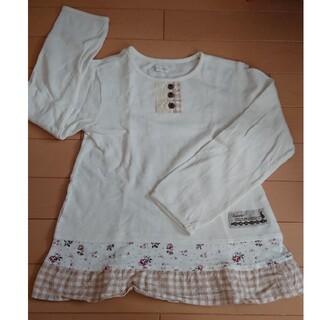 ビケット(Biquette)の女児長袖Tシャツ 130 中古品(Tシャツ/カットソー)