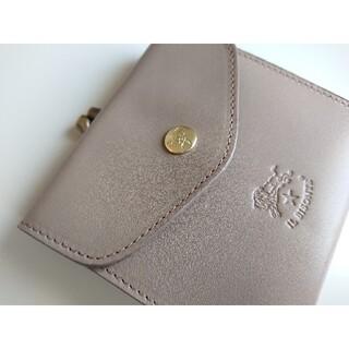 イルビゾンテ(IL BISONTE)の新品 イルビゾンテ がま口 二つ折り財布 限定 グレー トルトラ(財布)