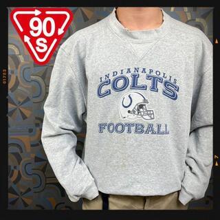 リーボック(Reebok)の90s リーボック チームスウェット NFL アメフト COLTS グレー(スウェット)