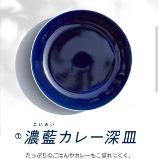 タチキチ(たち吉)の金麦 あいあいカレー皿 たち吉 濃藍皿(食器)