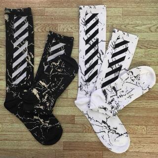 靴下 グレー ソックス オフホワイト ストリート ジャスティン GD
