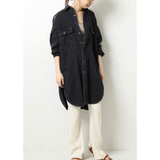 Spick and Span - 【5 1/2】 LONG-LINE DENIM SHIRT