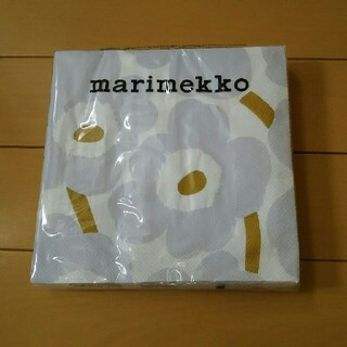 marimekko - レア マリメッコ ウニッコ ペーパーナプキン アイシーグレー非売品
