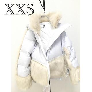 サカイ(sacai)の新品タグ付き Nike sacai ピュアプラチナム ダウンジャケット XXS(ダウンジャケット)