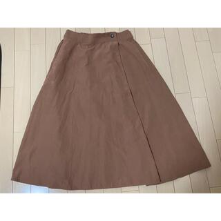 ヴィス(ViS)のVis スカート ひざ丈スカート 茶色(ひざ丈スカート)