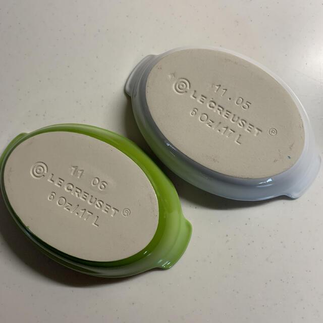 LE CREUSET(ルクルーゼ)のル・クルーゼ グラタン皿 2つセット インテリア/住まい/日用品のキッチン/食器(食器)の商品写真