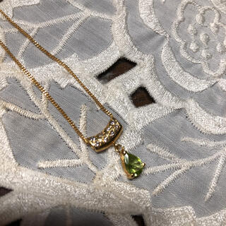 ジュエリーマキ(ジュエリーマキ)の出品20日まで!ジュエリーマキのK18 ダイヤモンドとペリドットのネックレス(ネックレス)